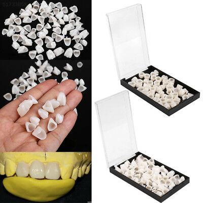 B7AA 70pcs/Box Pro Dental Temporary Tooth Resin Crown Anterior Veneers Teeth