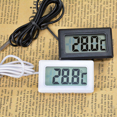 BA1A 7510 LCD Embedded Digital Thermometer For Fridge Freezer Aquarium FISH Home