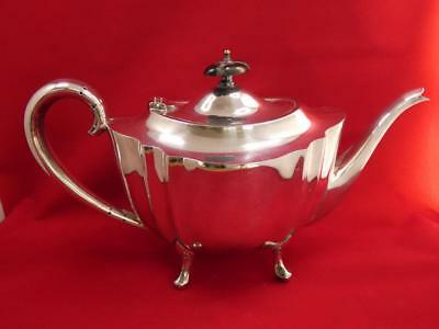 """Silver Plate Teapot 5 1/2"""" High (very good condition) Maker W.H&G."""