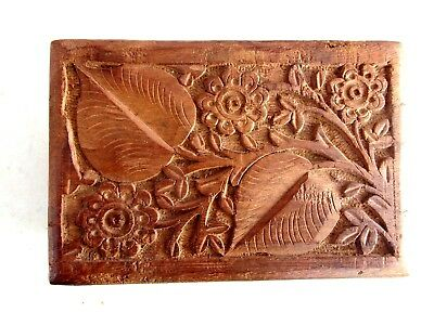 Vintage  Beautifully  Hand Carved  Trinket  Box
