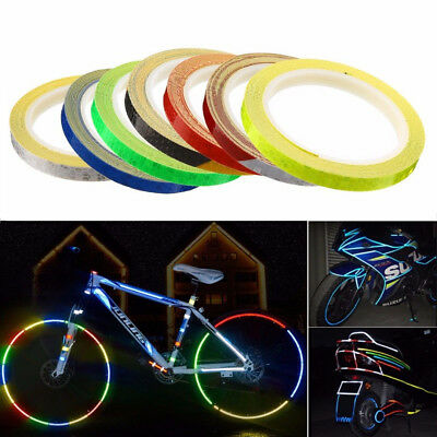 Reflective Bike Wheel Rim Stickers Safety Bicycle Cycling Reflector Tap DIY