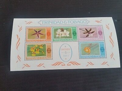 Trinidad And Tobago 1976 Sg Ms499 Orchids  Mnh  (T)