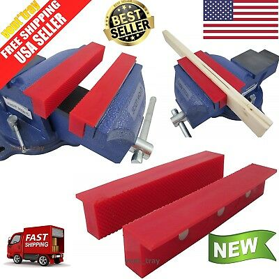 2 Soft Magnetic Vice Jaws Nylon 6 Inches Gun Smith Parts Wood Jewelry Tool Gears
