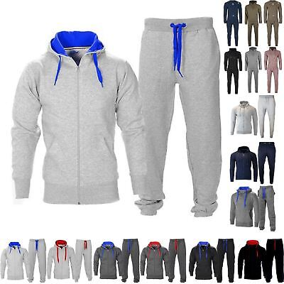 New Mens Fleece Hoodie Top Bottoms Joggers Gym Trackies Jogging Tracksuit Set