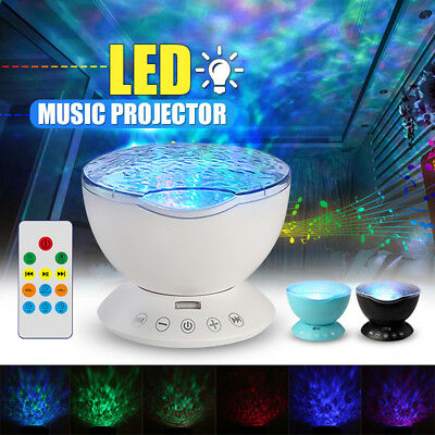 Rotating LED Night Light Ocean Wave Projector Lamp Romantic Remote Gift USA