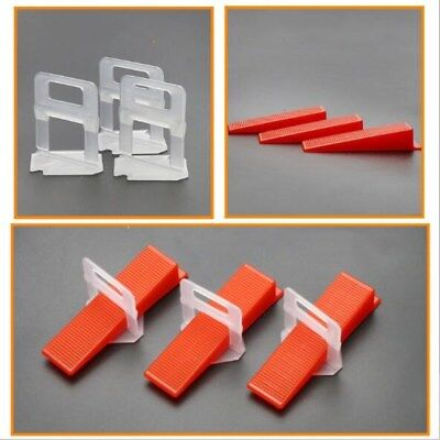 100Pcs Wedge Tile Leveling System Clips Wall Floor Spacer Flooring Tiling Tool