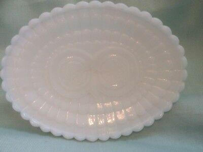 Avon Owl face White MILK GLASS  soap dish on Pedestal  FUN