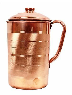 Pure Copper Water Pitcher Jug Antique Ayurveda For Health Benifit 1.5 Ltr Appx.