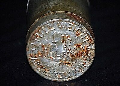 Old Vintage Advertising Ad 1 Lb. Royal Baking Powder Pure Tin Can w Embossed Lid