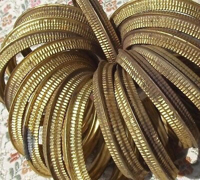 Vintage Antique French gilded Ormolu Brass Curtain Rings 19th Century