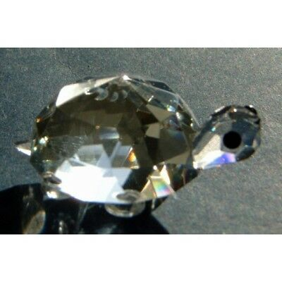 Cut Glass Tortoise Ornament - Collectible Crystal Figurine Home Decor