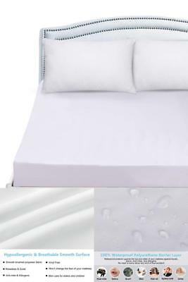 Mattress Cover Protector Waterproof Pad King Size Encasement Bug Bed Cover New