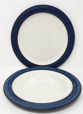 "Denby Boston - Blue - 2 x 10.5"" Dinner Plates - Seconds"