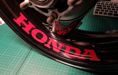 4 x LARGE Honda WHEEL STICKERS CBR CBRR FIRE BLADE, CB, CRF, VFR CR, RC211,VTR