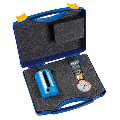 Twin Flow & Pressure Kit Water Flow Measuring Gauge Set ABS Cup Wet Test 10 Bar