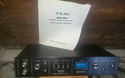 TEAC AN-80 DOLBY B Noise Reduction Unit, Performs Perfectly Tested With  Manual