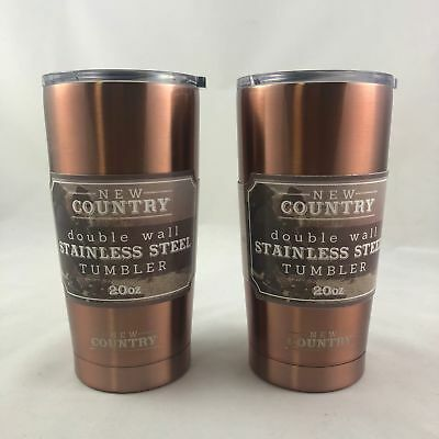 Double Wall Stainless Steel Tumbler, Copper, 20 oz (2-pack)