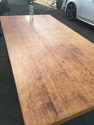 Vintage Ex- Clerk Courts Desk Table 6x3 Oak