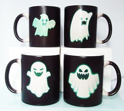 Ghost Magic Color Changing Heat Reactive Magic Coffee Tea Mug Halloween CUP SET