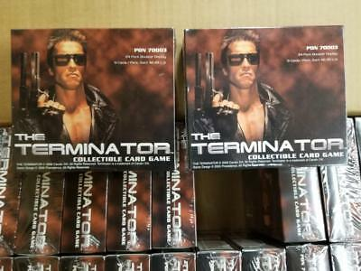 2 BOX LOT The Terminator CCG Booster Game Card Box 24 pack box Factory Sealed