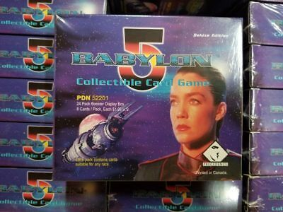 2 BOX LOT  Babylon 5 CCG Booster Box Deluxe Editions Factory Sealed 24 pack Box