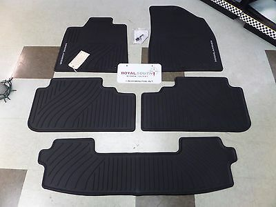 Toyota Highlander Hyb 08-13 All Weather Rubber Floor Mats w/ 3rd Genuine OEM