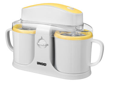 UNOLD 48850 Duo Gel canister ice cream maker 12W 0.5L White,Yellow 2 x 0.5 L -