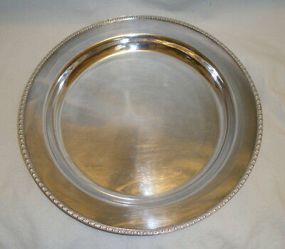 "13"" Round Silverplate Shallow Serving Bowl/Tray, Middletown Silverware"