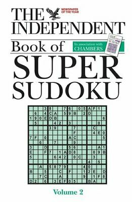 """The """"Independent"""" Book of Super Sudoku: v. 2 Paperback Book The Cheap Fast Free"""