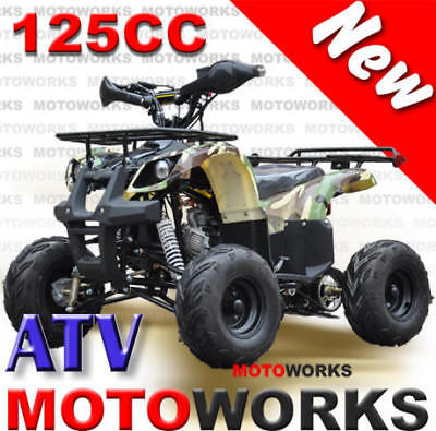 MOTOWORKS 125CC Farm ATV QUAD Bike Dirt Gokart 4 Wheeler Buggy trail GREEN