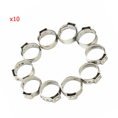100 X  New 1/2 '' PEX 304 Stainless Steel Clamp Cinch Rings Crimp Pinch Fitting