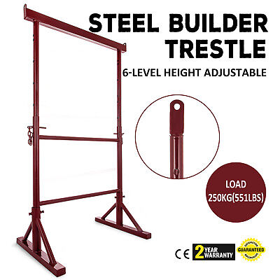 Level Height Adjustable Steel Builder Trestle Bricklayer Stable Stability PRO
