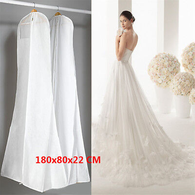 Extra Large Wedding Dress Bridal Gown Garment Breathable Cover Storage Bag JO