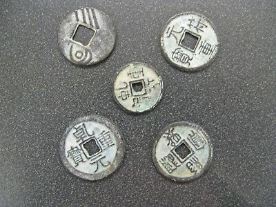 5 x Mixed lot Of Collectible Ancient Chinese Coins
