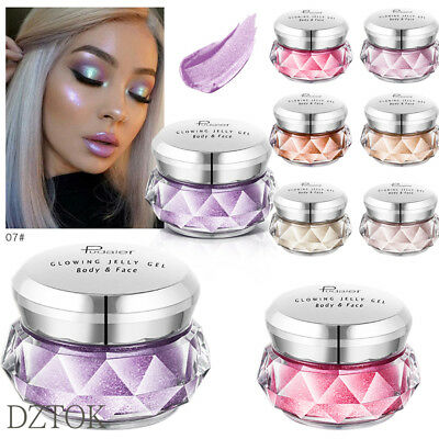 Jelly Gel Highlighter Make Up Concealer Shimmer Face Glow Eyeshadow Glitter CA