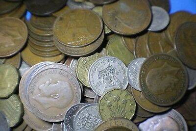 200g UK Bulk lot Predecimal Coins