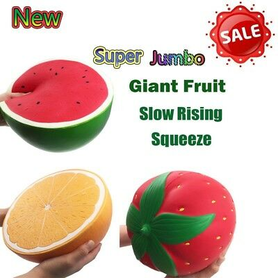 Jumbo Super Giant Squishy Fruit Scented Slow Rising Reliever Stress Toy New Lot