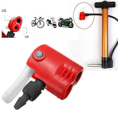 Dual Head Air Pump Adapter Valve For Bicycle Bike Cycle Tyre Tube Replacement