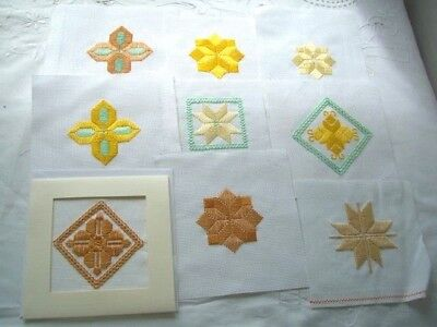 Needlepoint -  9  x Finished squares, ideal for card making         ref 3C