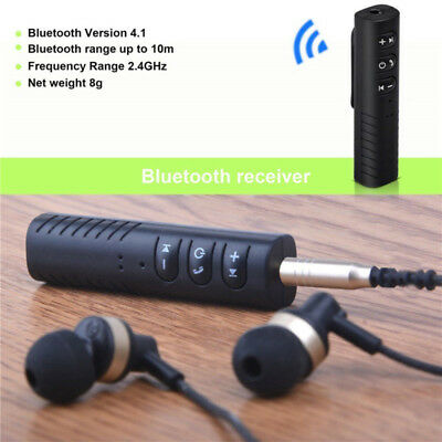 Handsfree Wireless Car Bluetooth Receiver AUX Music 3.5mm Stereo Audio Adapter #