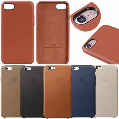 For Apple iPhone XS XR 8 Plus X 7 6s Original Genuine PU Leather OEM Case Cover