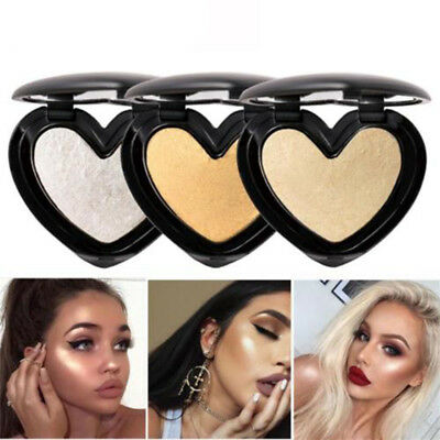 Shimmer Heart Highlighter Powder Eye Shadow Blush Bronzer Face Makeup Cosmetic