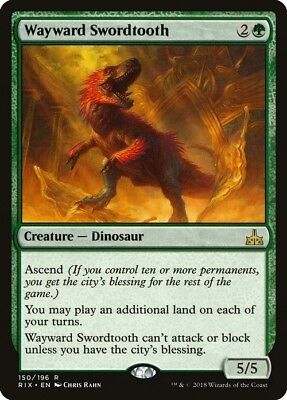 Wayward Swordtooth ~ Rivals of Ixalan ~ MINT/NearMint ~ Magic The Gathering MTG