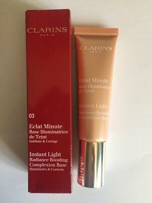 Clarins Eclat Minute Instant Light Radiance Boosting Base 03 Peach.....Free Post