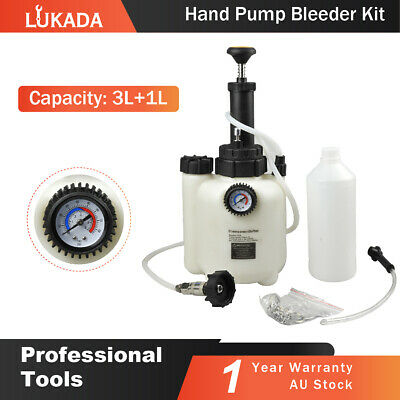 LUKADA Brake Clutch Bleeding System Fluid Bleeder Kit Hand Pump Pressure Tool