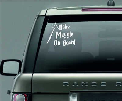 Baby muggle on board Car Window Vinyl / Sticker Decal in 8 colours