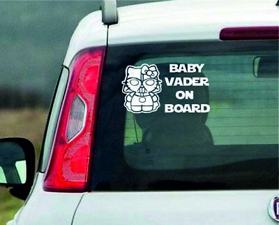 Baby Vader on board Car Window Vinyl / Sticker Decal in 8 colours