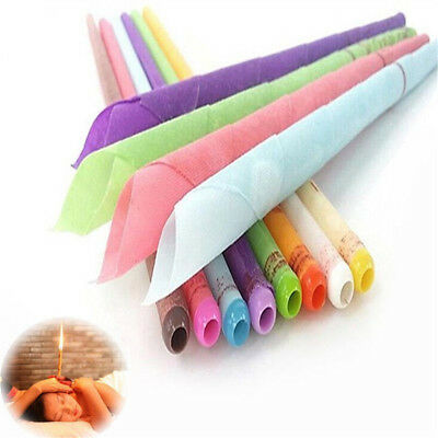 Earwax Candles Hollow Blend Cones Ear Cleaning Hearing Spy Massage Random Color