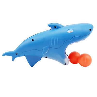 Cartoon Shark Animal Projectile Gun With Pingpong Ball Toys For Kids 6A