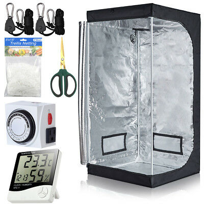 Grow Tent+Grow Light Hanger+Digital Hygrometer+Shears+24 Hour Timer+Trellis Net